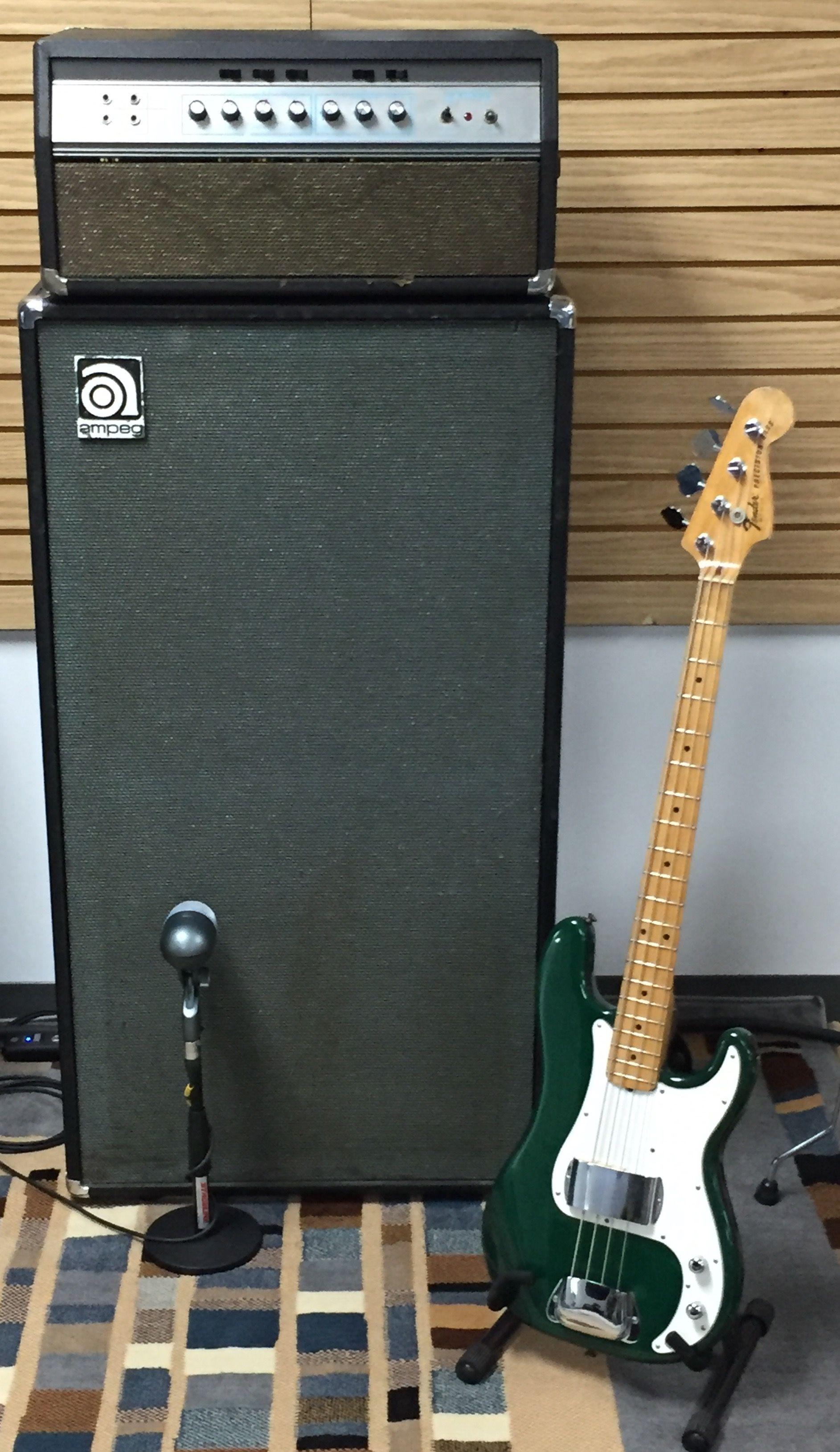 1970 Original Ampeg Svt 8x10 Cabinet Boutique Guitar Blues Fender Precision Bass