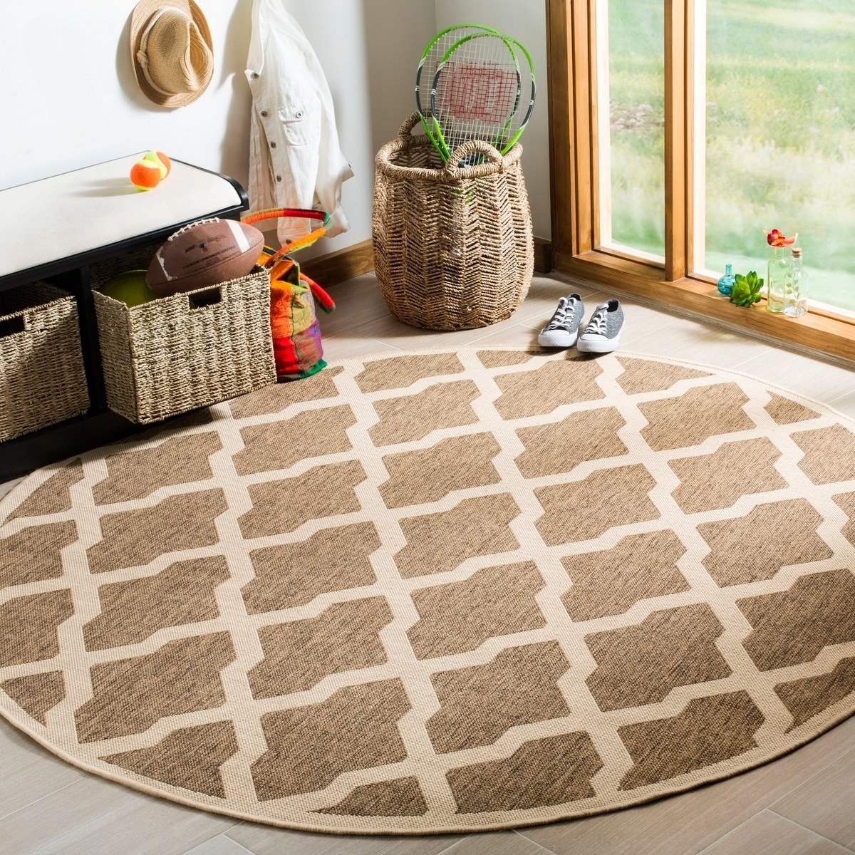 Safavieh Linden Modern Contemporary Beige Cream Rug 6 7 X