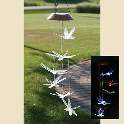 Dragonfly Solar Mobile Fun In The Day And The Night Solar Powered Outdoor Lights Dragonfly Solar Powered Lights