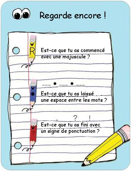 My French translation of this early writing poster  | SCHOOL