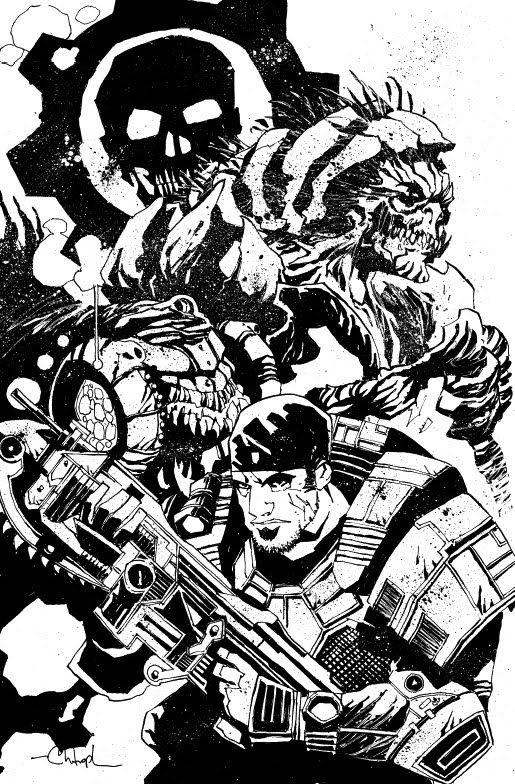 Gears Of War Christopher Mitten Ilustraciones Dibujos Motos Geniales