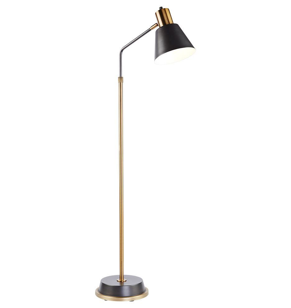 Showcasing A Style That S Both Humble And Rich Our Cylinder Arm Task Floor Lamp Is A Handsome Addition In Spaces Large Lamp Indoor Floor Lamps Task Floor Lamp