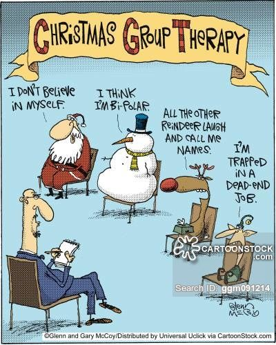 christmas group therapy cartoon - Google Search | Therapy Cartoons ...