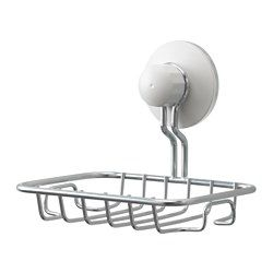 I d mount these in my trailer kitchen sink to hold a sponge and or soap.  IKEA - IMMELN db7b375761a75