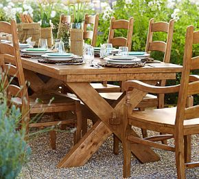 Toscana Extending Dining Table Large L Alfresco - Pottery barn trestle dining table