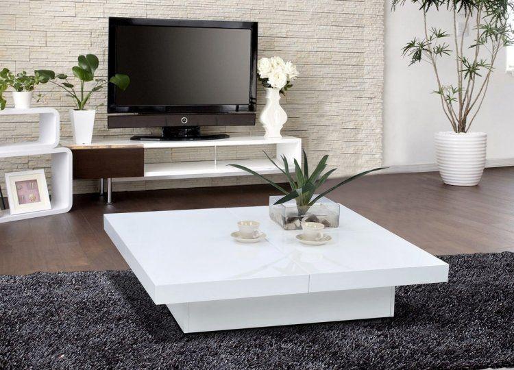 Table Basse Blanche Pour Salon En 20 Exemples Magnifiques Table