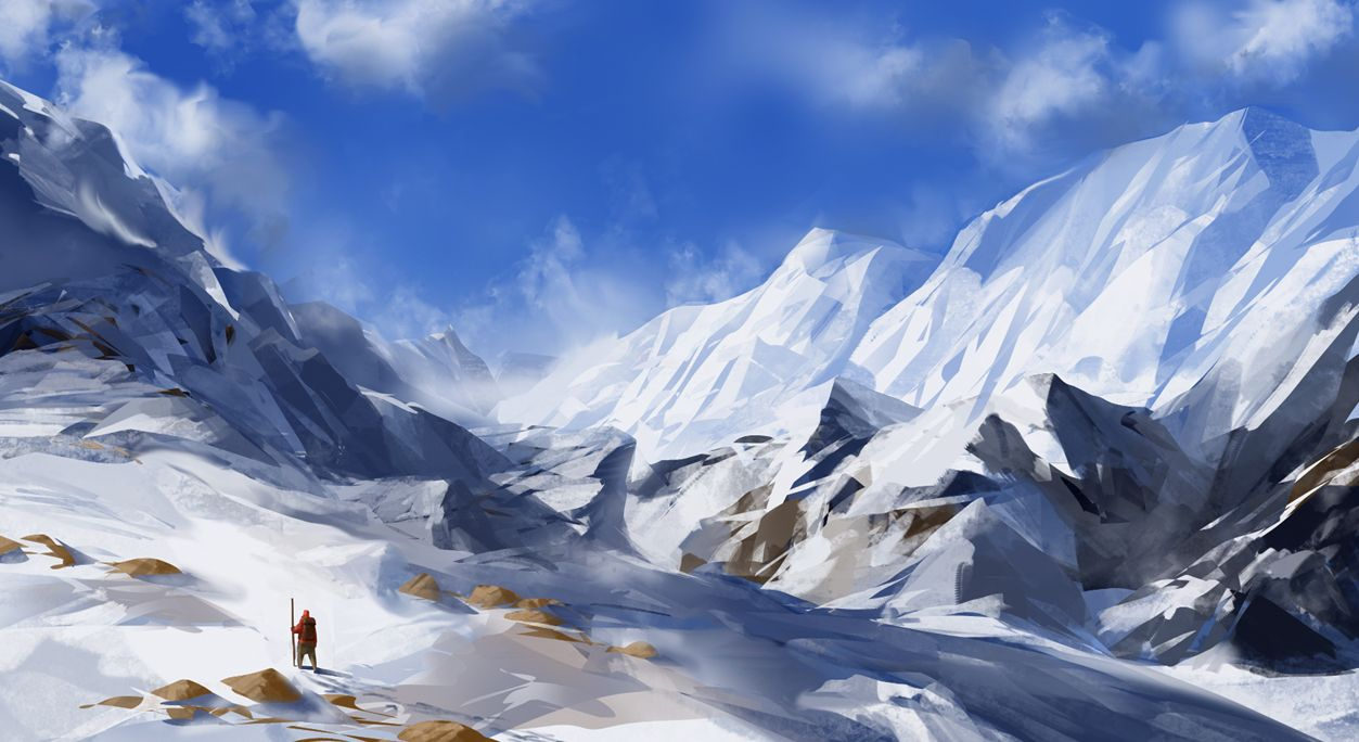 snowy mountain landscape painting. snowy mountains by joakimolofssondeviantartcom on deviantart mountain landscape painting