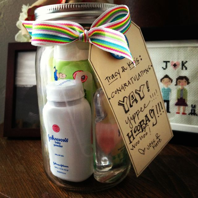 Baby Gift Jars : Safety pin etched mason jar perfect gift packaging for