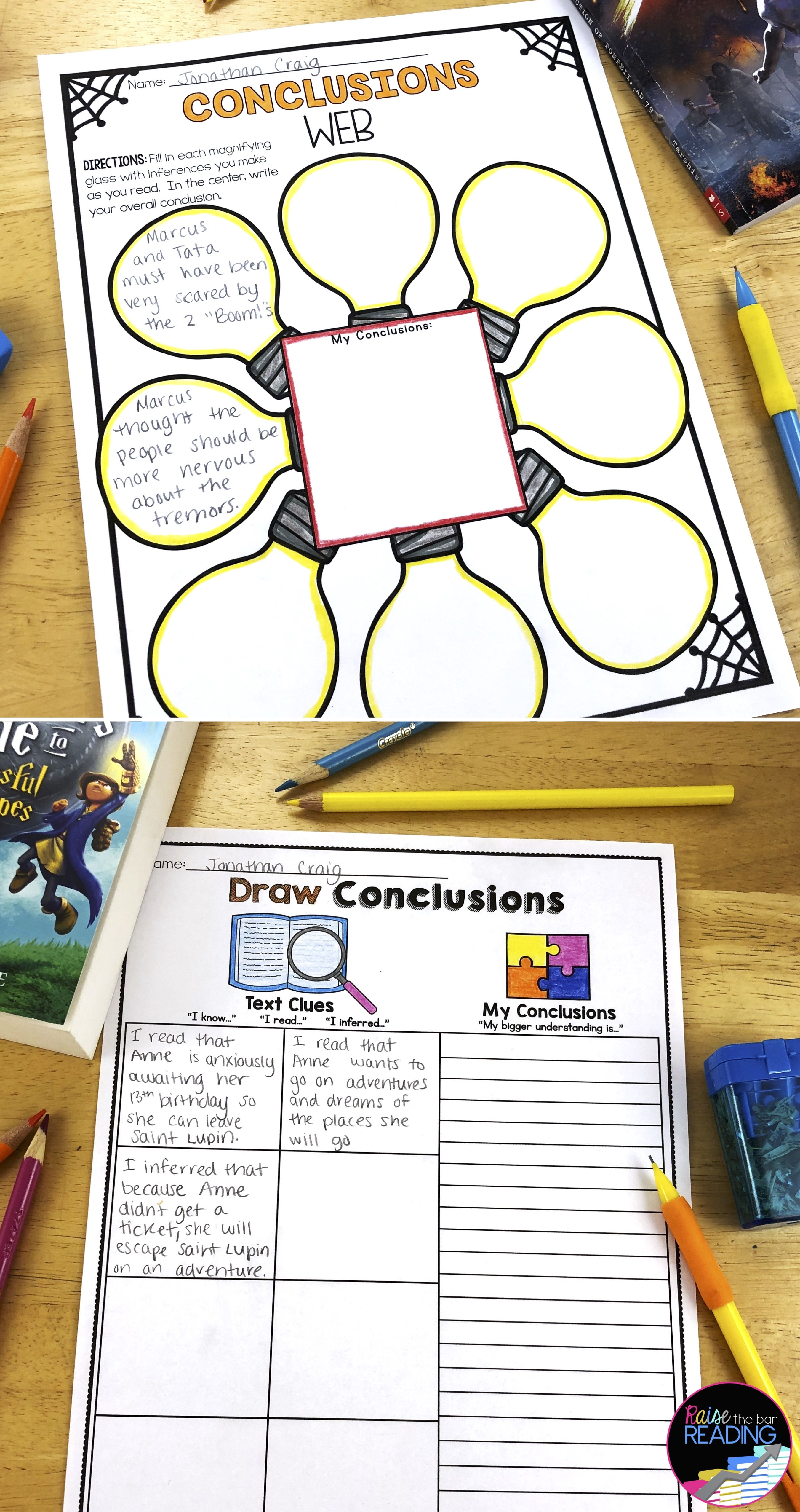 Drawing Conclusions Worksheets Paper Amp Digital Reading