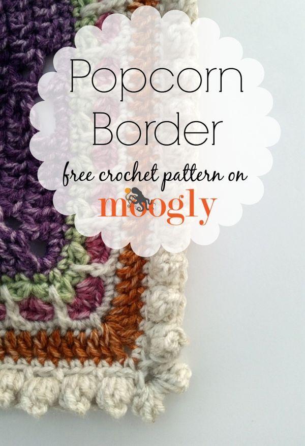 Popcorn Border - free crochet edging pattern on Mooglyblog.com ...