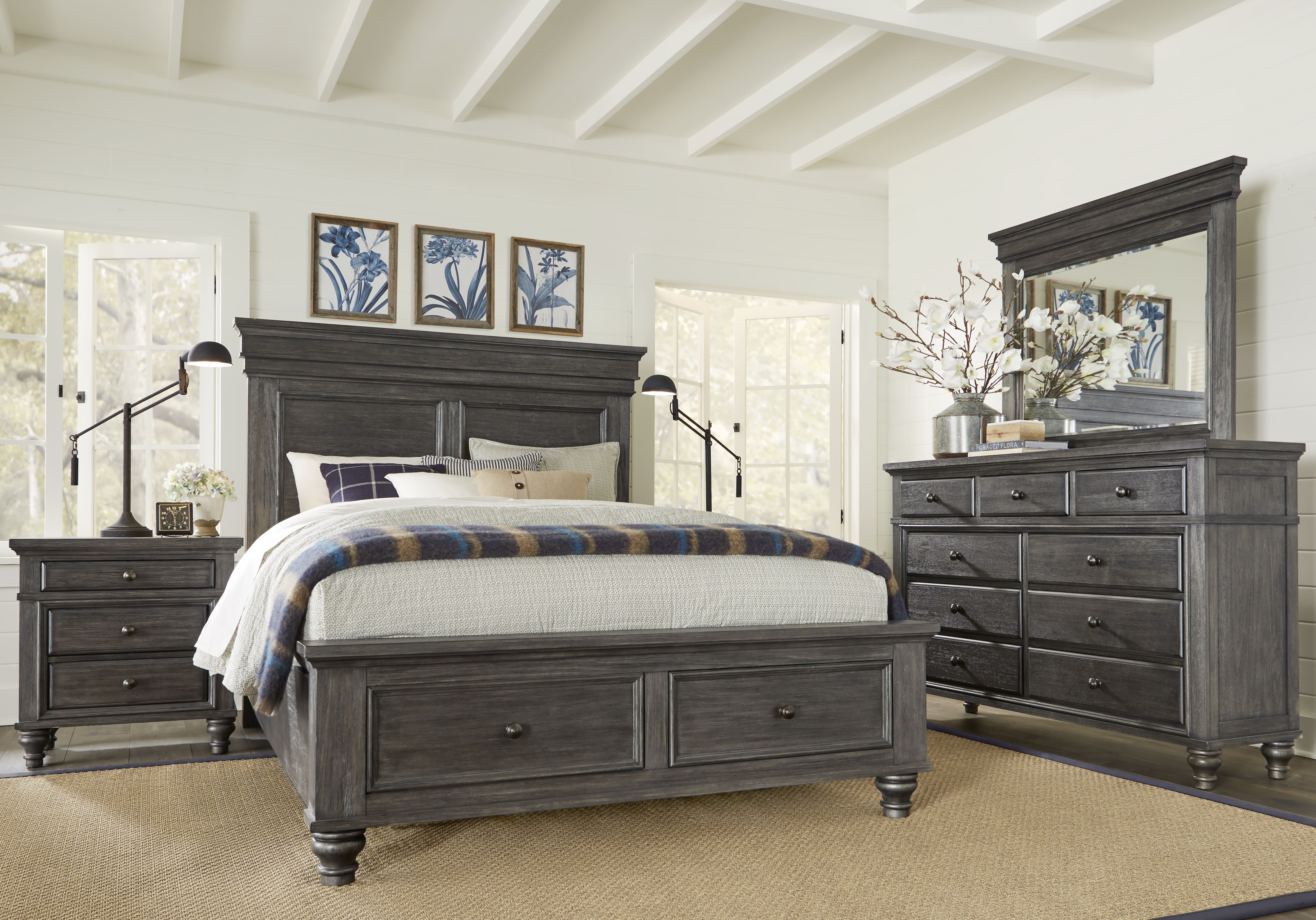 Lake Town Gray 5 Pc Queen Panel Bedroom with Storage in 2019 ...