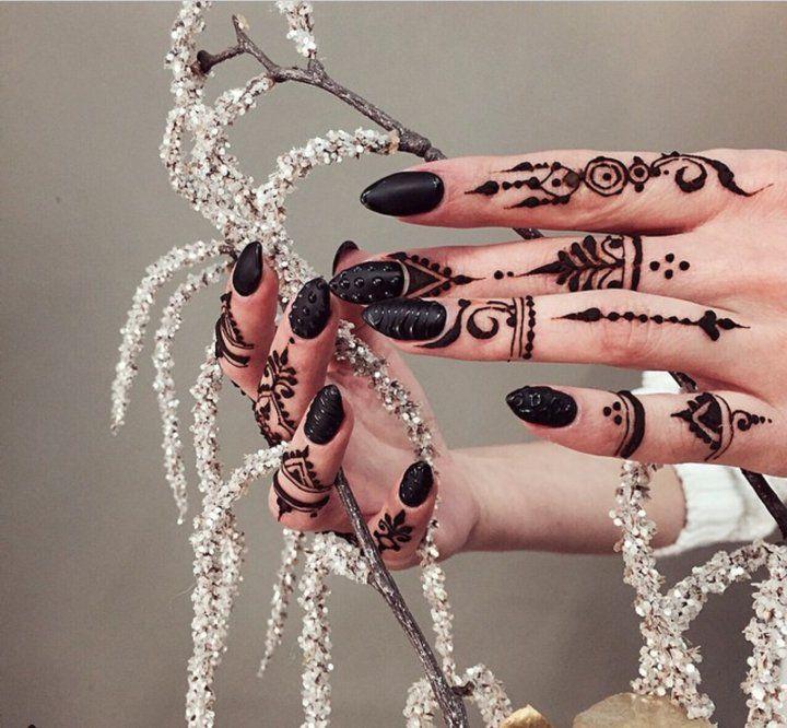 Black Henna Tattoo Uk: Stunning Finger #Henna. …