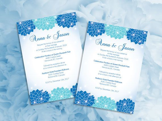 DIY Printable Wedding Invitation Card Microsoft Word Template - microsoft word template invitation