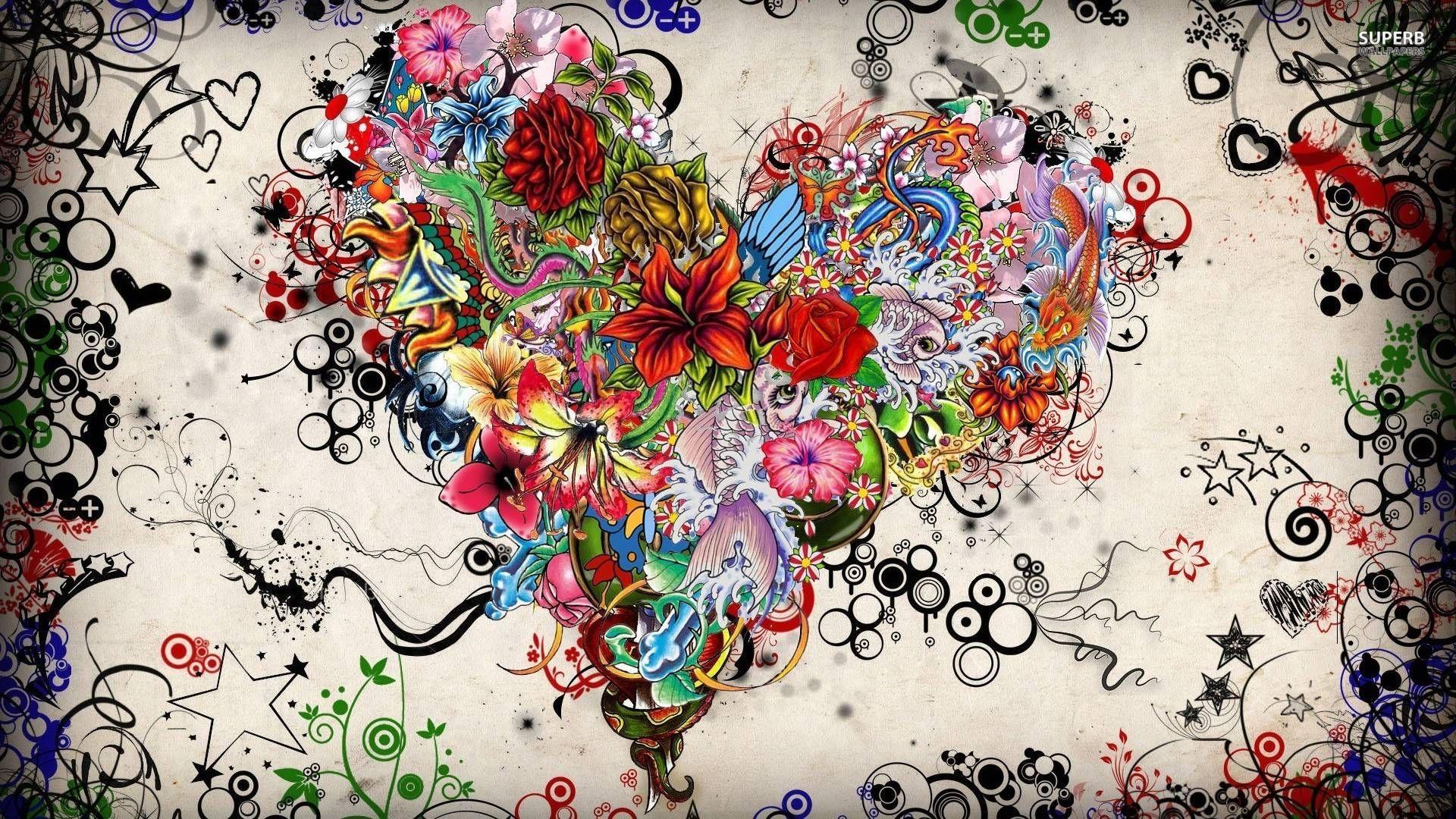 Tattoo Wallpaper Desktop Background m3c Heart art, Love