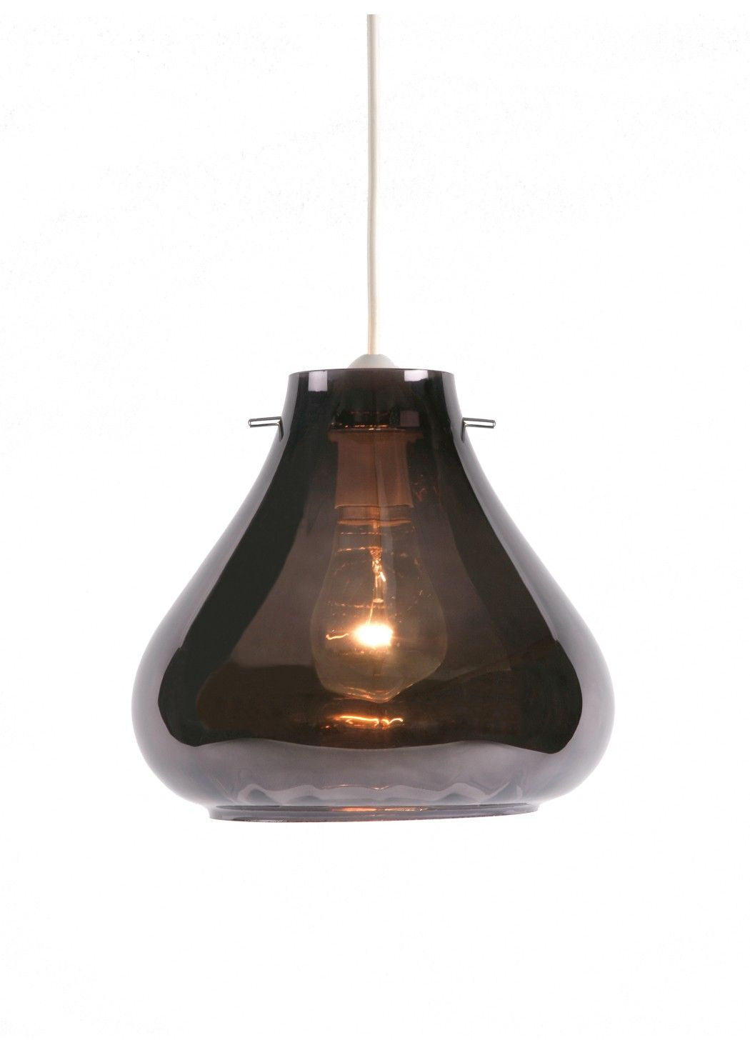 Keto Pendant Smoked Glass Non Electric Ceiling Shade