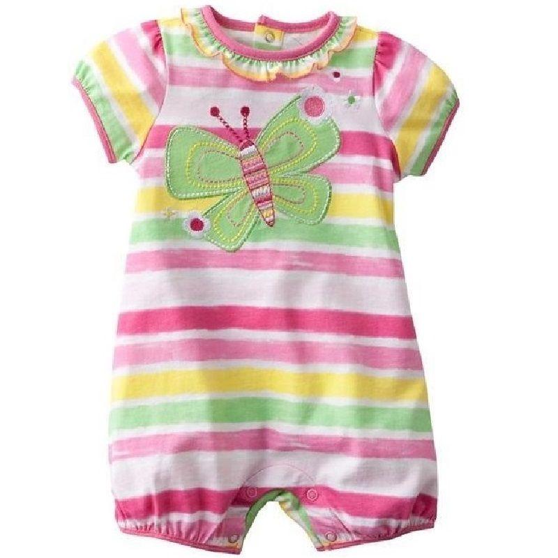 8082ef8ef16 2018 de La Mariposa Del Bebé Del Mameluco de La Raya ropa de Recién Nacido  bebé
