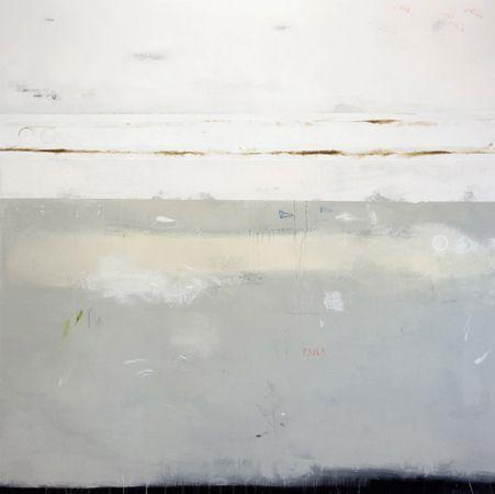 "Mirko Baricchi, ""Bianco X"", technique mixte sur toile"