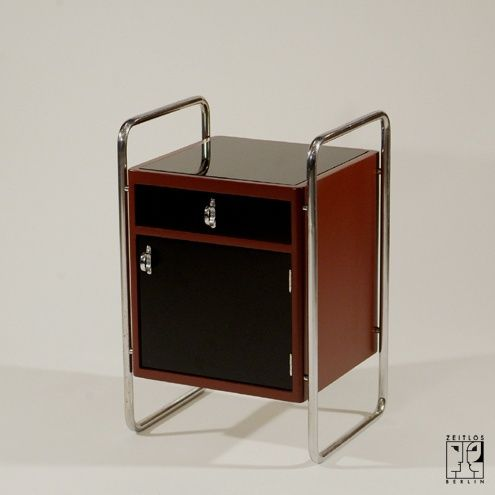 Small tubular steel cabinet in the style of the Bauhaus-Modernism ...