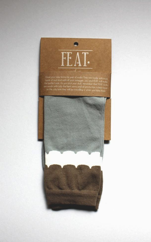 feat sock packaging designerly things apparel packaging
