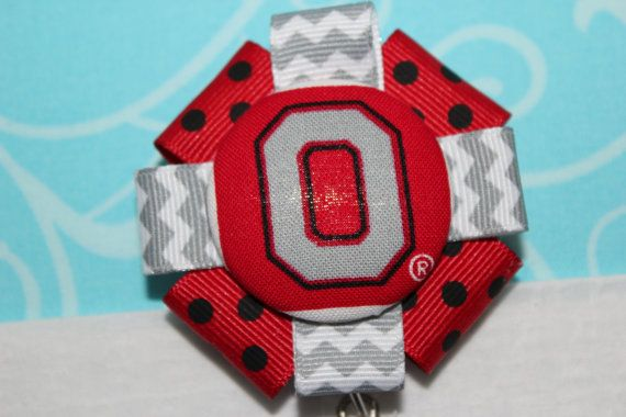 Fabric Ohio State Buckeyes O with Red/Black Polka by TheGirlCave, $6.50  https://www.etsy.com/listing/168058197/fabric-ohio-state-buckeyes-o-with?ref=sr_gallery_19&ga_order=date_desc&ga_view_type=gallery&ga_page=66&ga_search_type=all