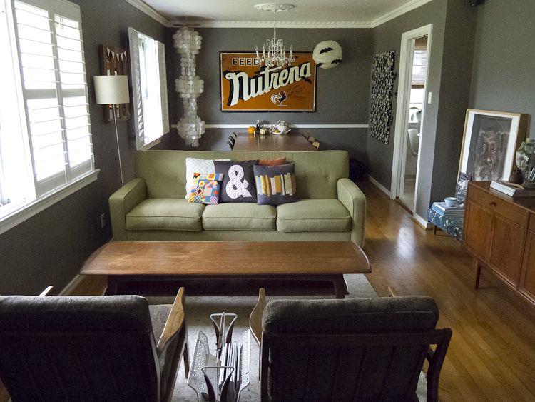 Midcentury living room makeover For the Home Pinterest Living