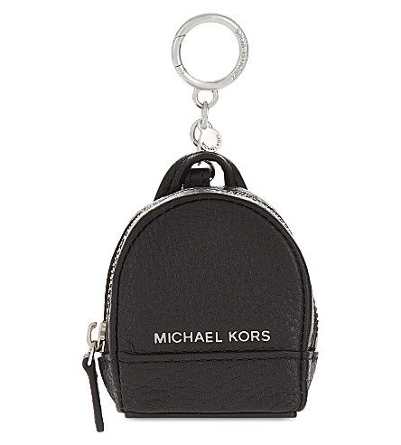 MICHAEL MICHAEL KORS Rhea Leather Backpack Keychain.  michaelmichaelkors   bags  leather  backpacks   9b1a8e43b2232