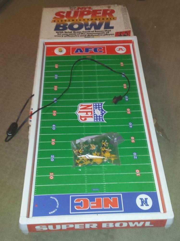 Vintage Nfl Super Bowl Xiv 1980 Tudor Electric Football Rams Steelers