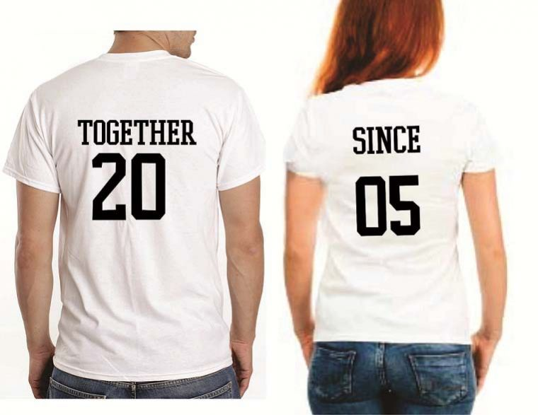 Together since anniversary couple t shirts couples couple