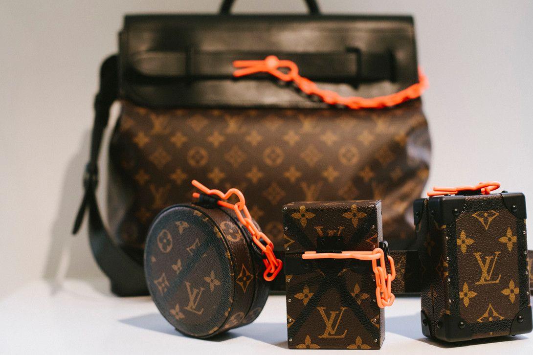 395e99a743d7 Virgil Abloh Louis Vuitton Spring Summer 2019 Top Handle Belt Bag Monogram  Orange
