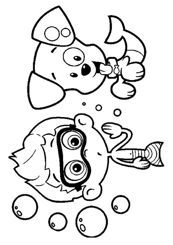 Print Coloring Image Momjunction Bubble Guppies Coloring Pages Birthday Coloring Pages Coloring Pages