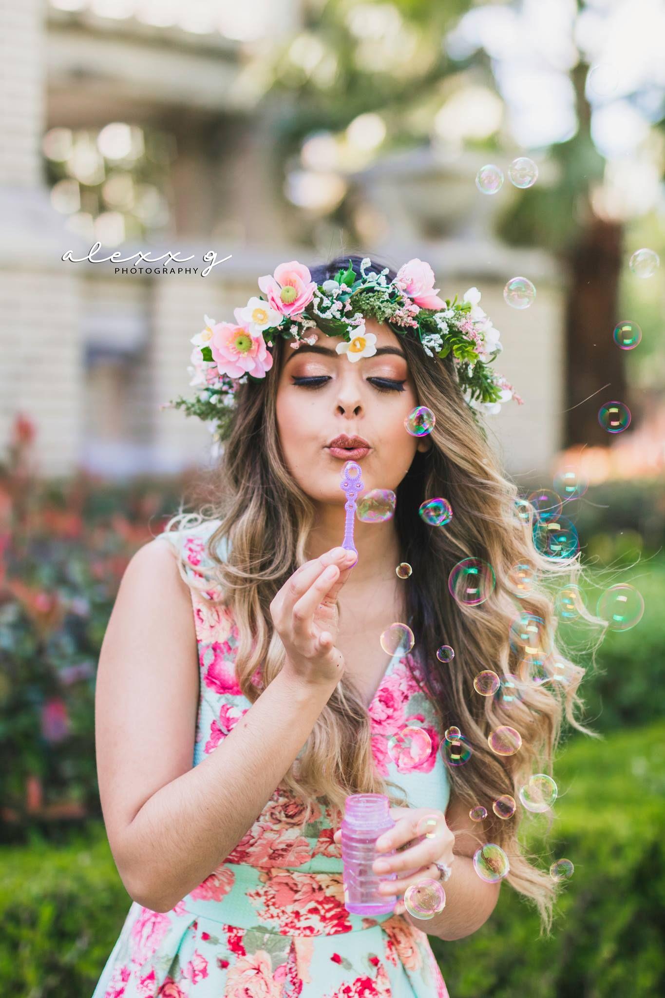 Confetti - Bubbles - Bubble Photoshoot - Flower crowns - DIY - Houston -Photography - Spring - RiceVillage - … | Flowers, Flower girl dresses, Birthdayphotoshoot