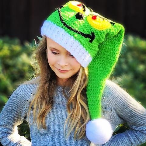 Deluxe Santa Hat - Crochet Pattern