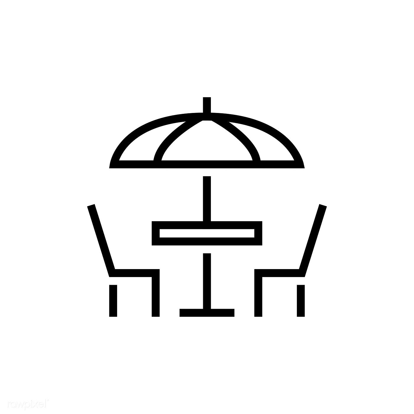 Outdoor Dining Restaurant Icon Vector Free Image By Rawpixel Com Restaurant Icon Cafe Icon Vector Free