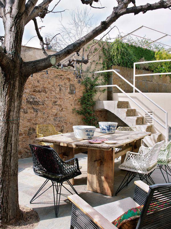 Arriba y abajo escaleras con mucho estilo en 2019 for Terraza decoracion apartamento al aire libre