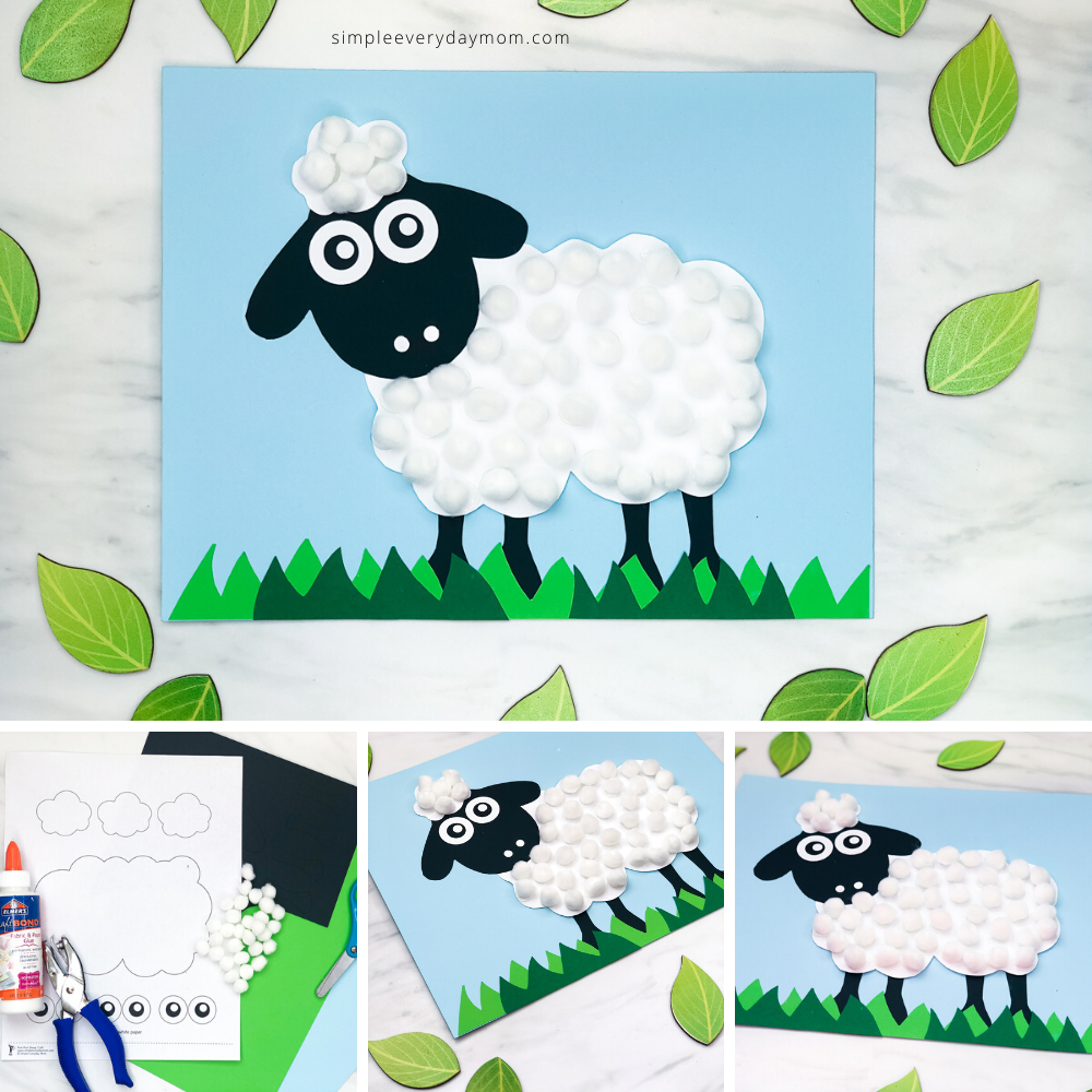 Easy Pom Pom Sheep Craft Free Template Sheep Crafts Crafts Spring Crafts For Kids [ 1000 x 1000 Pixel ]