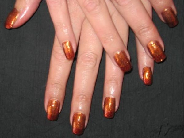 White And Bronze Nailpro Copper Nails Designs Bronze Nails Designs Bronze Nails