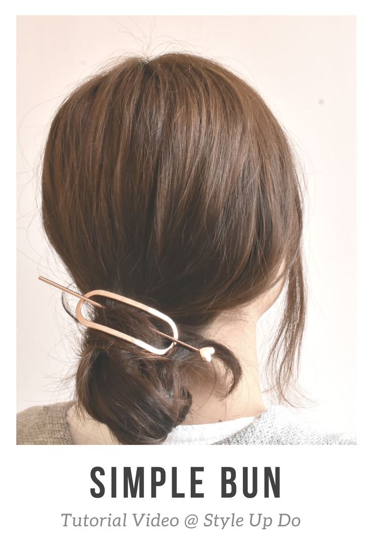 Tutorial easy way to upgrade your simple hair bun in