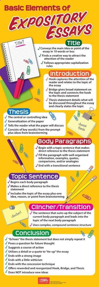 Basic Elements Of Expository Essays Skinny Poster Expository Essay Writing A Thesis Statement Essay Writing Help