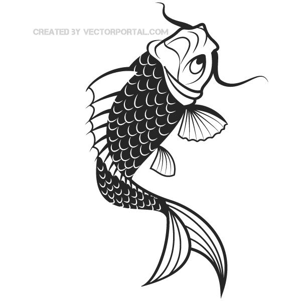 Vector Japanese Koi Fish Free Vectors Pinterest