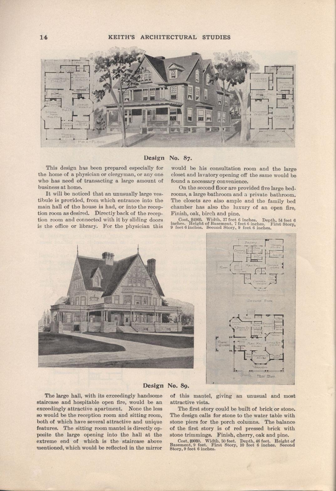 Keith's architectural studies, no.8   Vintage floor plans ...