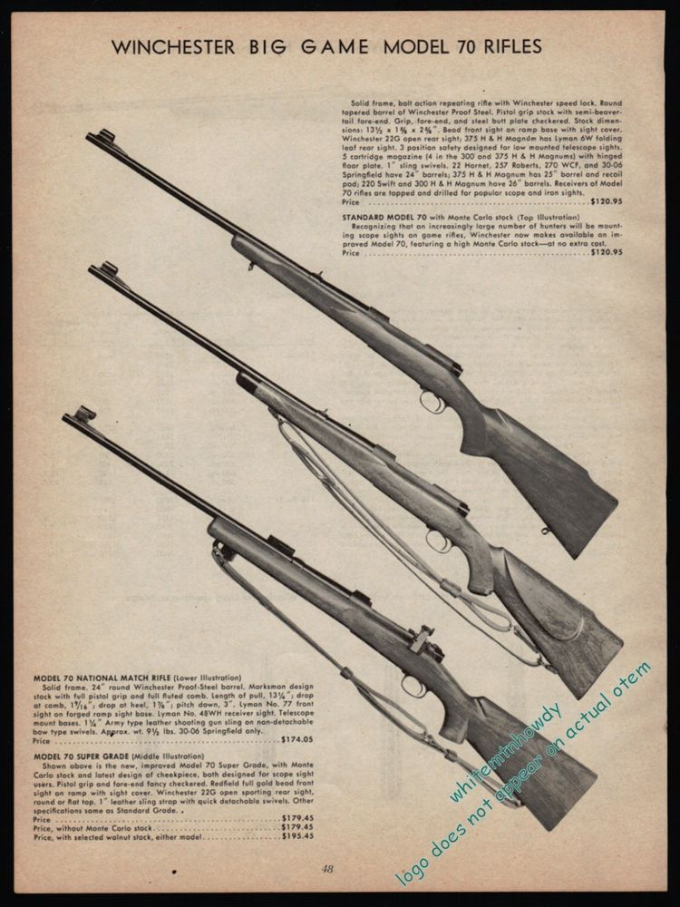Details about 1942 WINCHESTER Model 70 70 DeLuxe Super Grade
