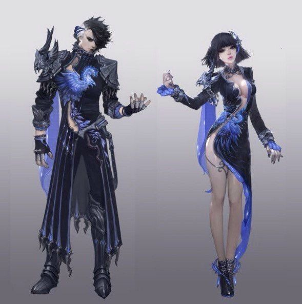 Character Design Aion : Aion concepts art game male and female