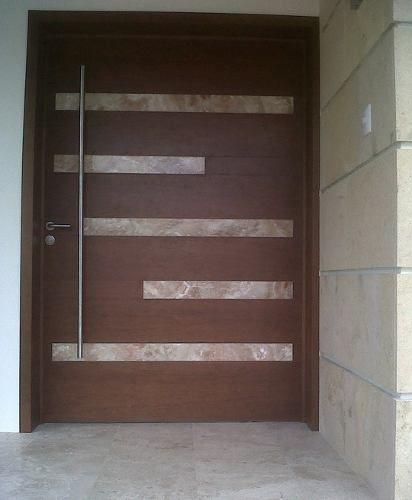 Resultado de imagen para puertas de madera modernas con vidrio - choisir une porte d entree