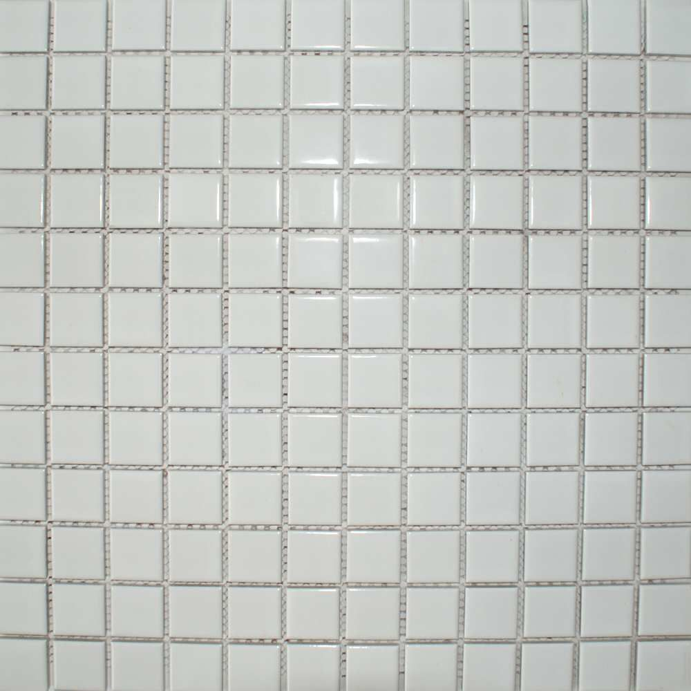 White Square Tile Bathroom gloss white square small tile description a smooth white mosaic
