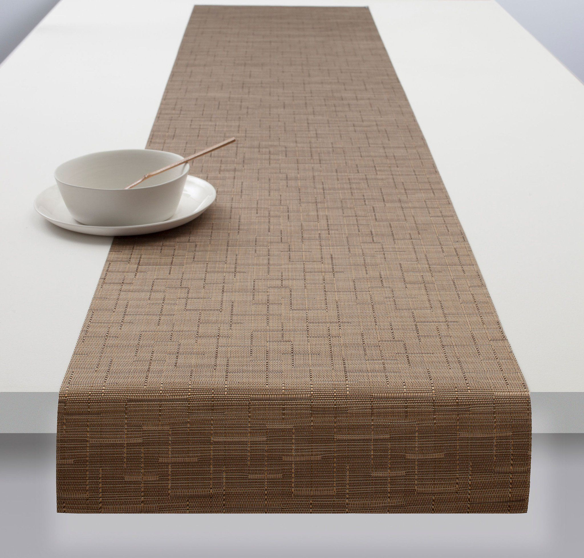 Bamboo Table Runner In Amber Design By Chilewich Bamboo Table