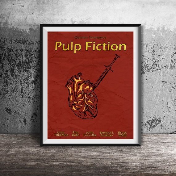 Movie poster printPulp Fiction-alternative movie by OandBstudios