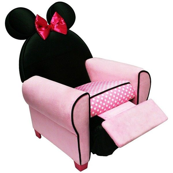 Delta Disney Minnie Recliner (350 ILS) ❤ liked on Polyvore featuring home, children's room и children's furniture