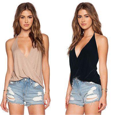 Fashion Tie Tank Tops Shirt Vest Solid Camisole Roupas Summer Regata  Feminina Sleeveless Camis Cheap Women 5cf5026c3
