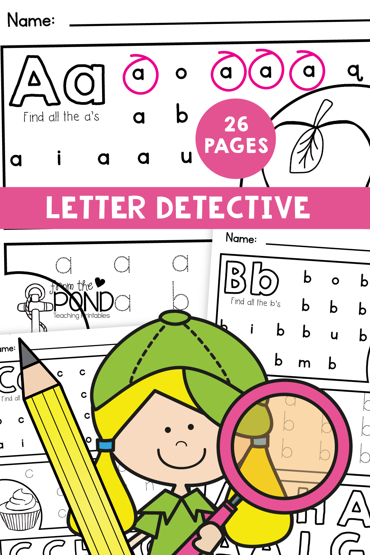 Letter Detective Printable File With Images