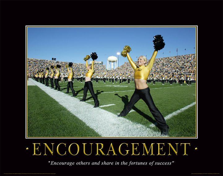 Cheerleader Motivational Poster Art Print Dance Team Iowa Hawkeyes